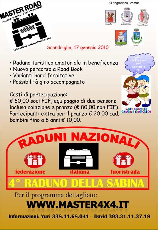Raduno master 4x4 Sabina