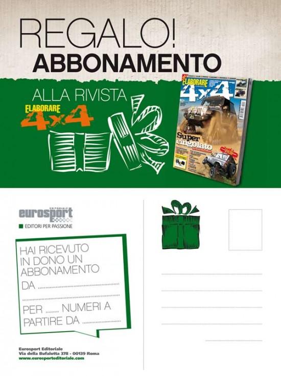 Cartolina abbonamento ELABORARE 4x4