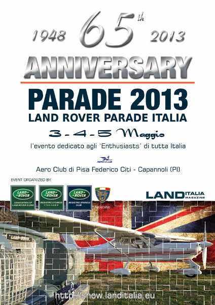 locandina Land Rover Parade Italia