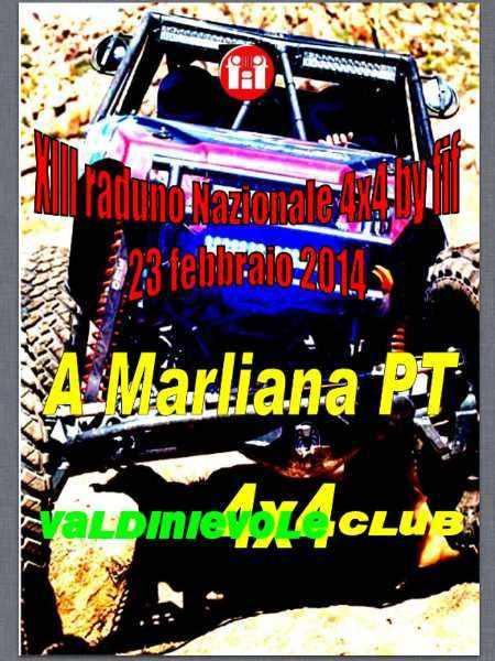 Locandina Marliana Valdinievole 4x4 Club