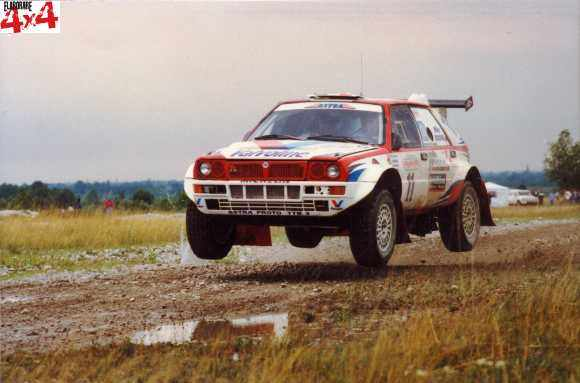 Miki Biasion sulla Lancia Delta Astra a Italian Baja 1996