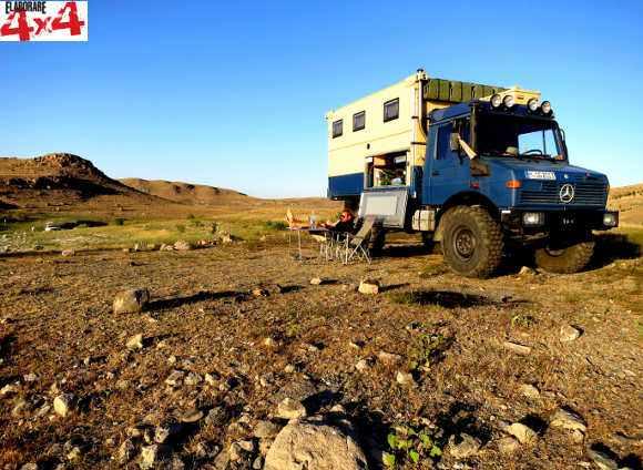 Rast in Kangal, Türkei: Mit 540 Liter Diesel und 180 Liter Frischwasser an Bord ist man autoark ? auch fern jeglicher Zivilisation.