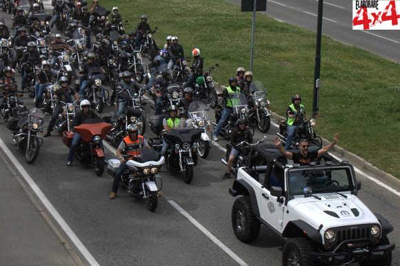 Raduno Jeep e Harley-Davidson Torino