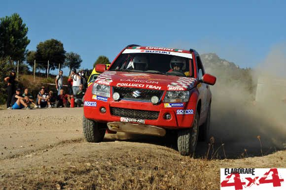 Luchini-Bosco su Suzuki Grand Vitara al Rally Sardegna