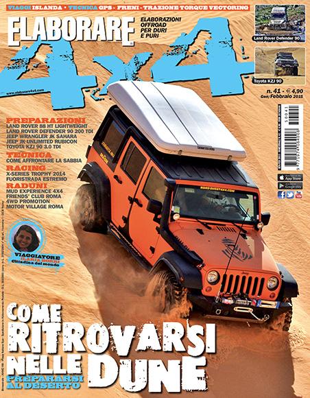 Cover Elaborare 4x4 nuovo numero Gennaio-Febbraio 2015