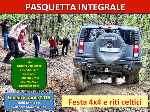 Locandina Pasquetta Integrale by Nordovest 4x4