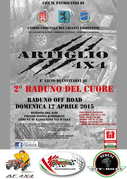 """locandina 2° """"Raduno del Cuore"""" by Artiglio 4x4"""