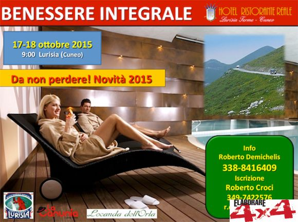 Locandina Benessere integrale by Nordovest 4x4