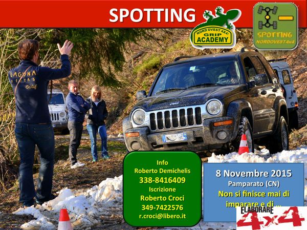 Locandina Spotting - 1° Step Grip Academy by Nordovest 4x4