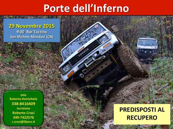 "locandina Tour ""Porte dell'Inferno"" by Nordovest 4x4"