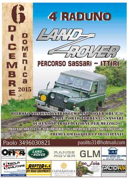 locandina 4° Raduno Land Rover in Sardegna