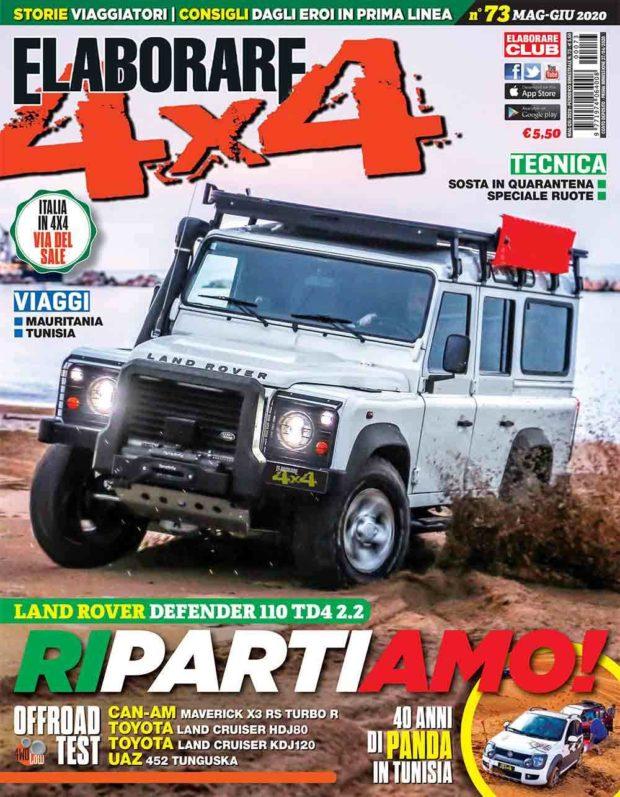 Cover Elaborare 4x4 numero 73 maggio-giugno 2020