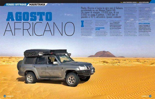 Nissa Patrol impegnato in uno viaggio offroad Mauritania