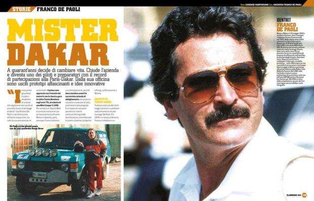 Pilota Dakar e preparatore auto da corsa, Francesco De Paoli